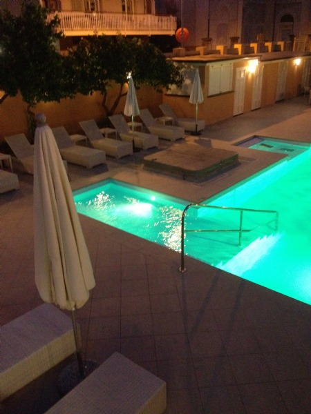 The pool-area in the evening