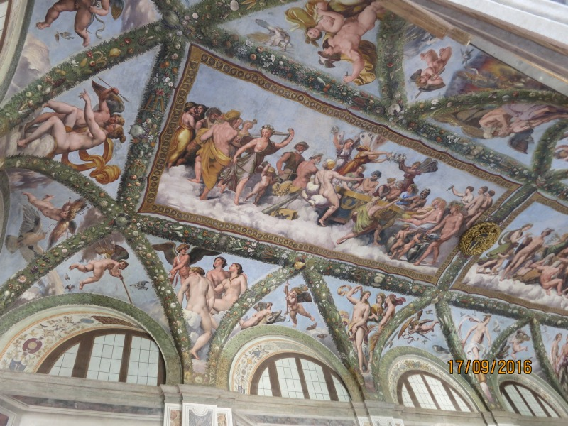 A ceiling in Villa Farnisina