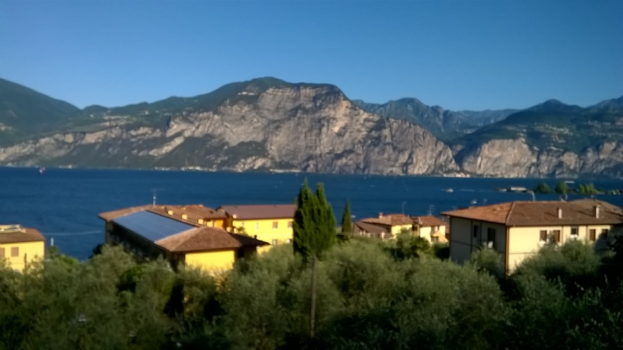 The view from the apartment at Residence Garda Blue