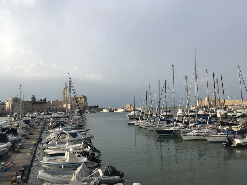 The harbour in Trani.